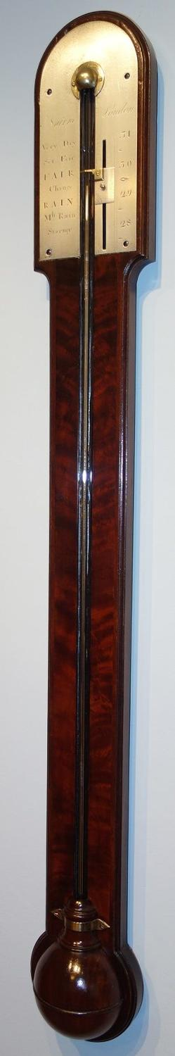 Georgian mahogany stick barometer. Nairne,London.
