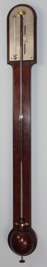 Fine George III mahogany stick barometer by Adams, London.c1790