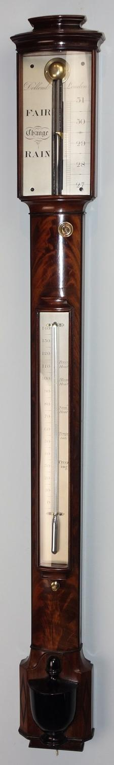 Excellent  Regency bowfront barometer by Dollond, London