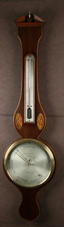 Georgian Wheel Barometer, Bianchi & Co. London. C.1825.