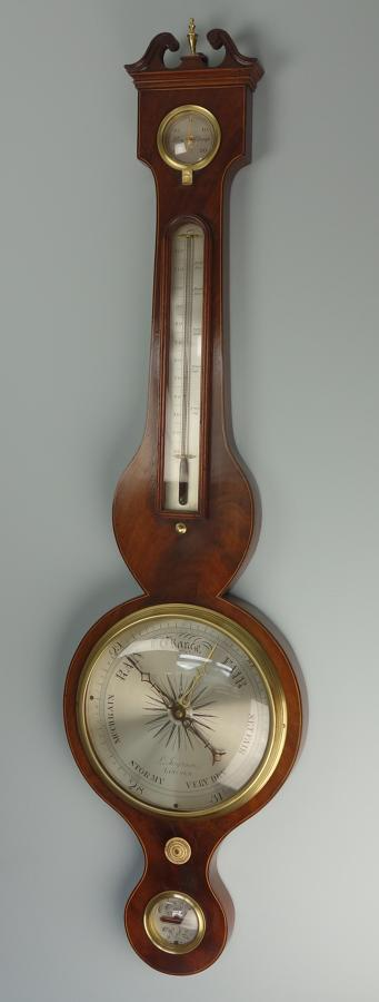 Ingram Of Lincoln, Early 19th C. Mahogany Wheel Barometer. C.1830.